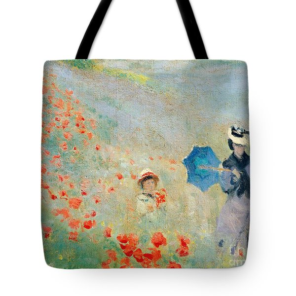 Poppies At Argenteuil Tote Bag