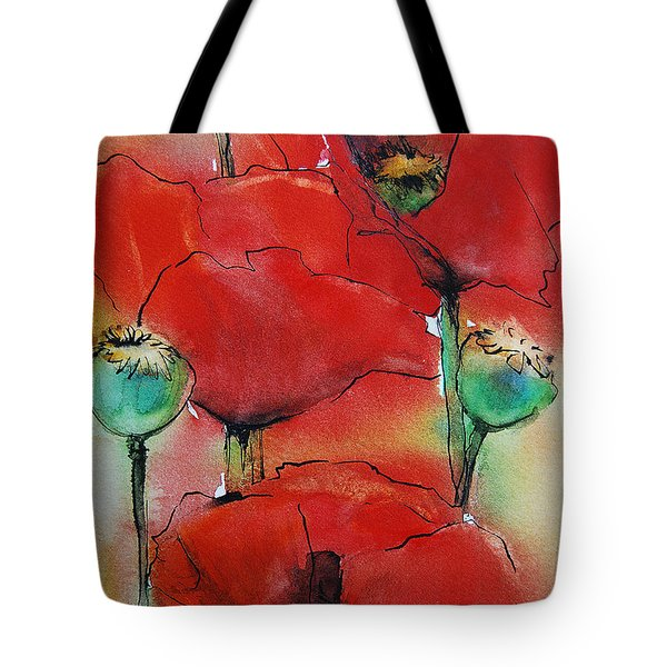Poppies I Tote Bag