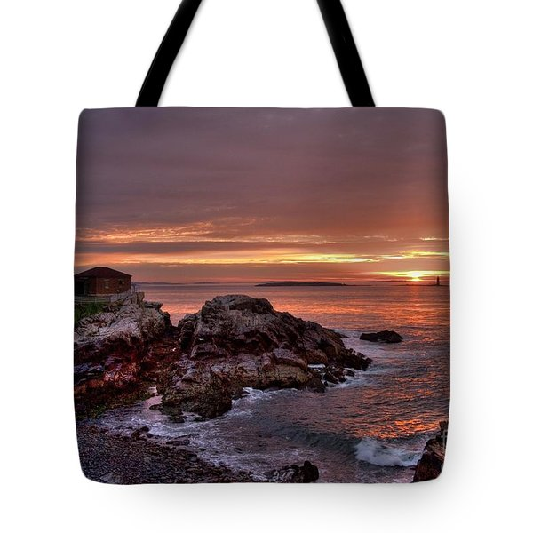 Tote Bag featuring the photograph Portland Head Lighthouse Sunrise by Alana Ranney