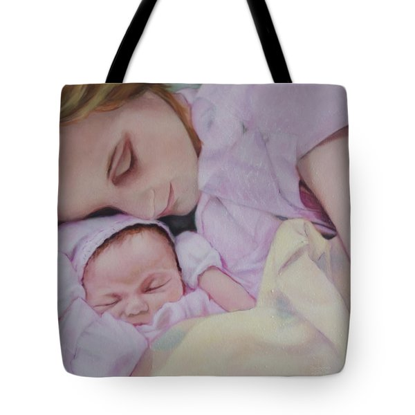 Portrait Of A Young Mother Tote Bag