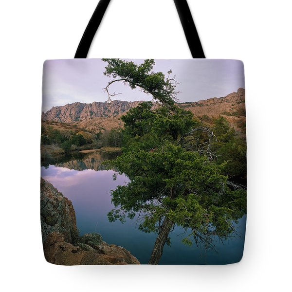 Post Oak Lake And Elk Mountain Tote Bag