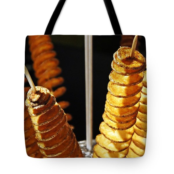 Tote Bag featuring the photograph Potatoes On A Stick by Lilliana Mendez