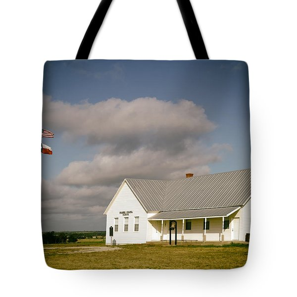 Prairie Chapel School Tote Bag