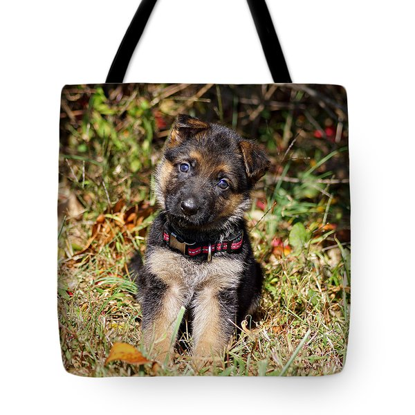 Pretty Puppy Tote Bag
