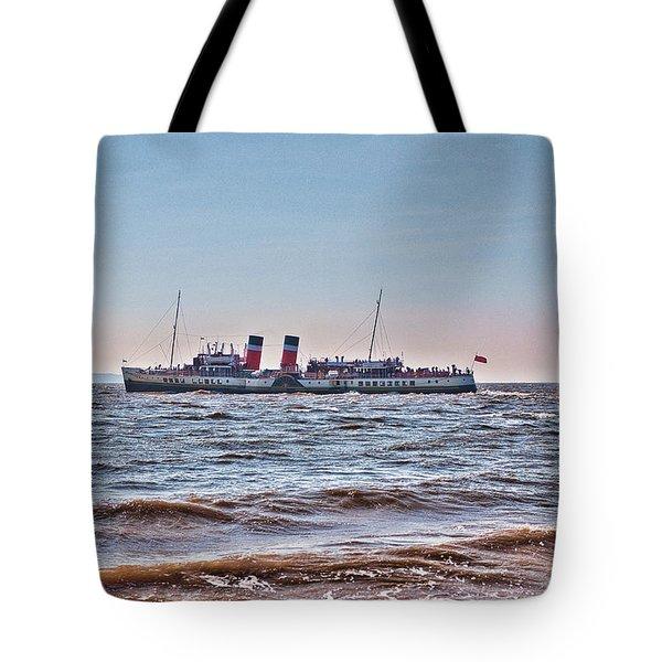 Ps Waverley Leaves Penarth Pier Tote Bag by Steve Purnell