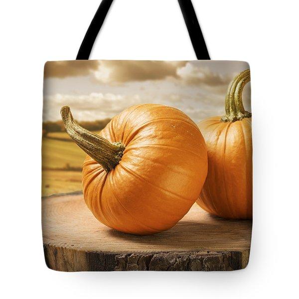 Pumpkins Tote Bag by Amanda Elwell