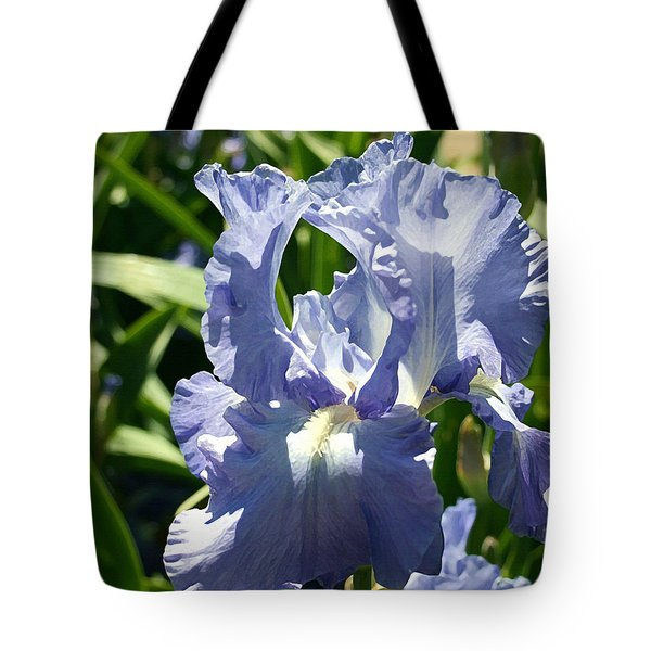 Purple Bearded Iris Tote Bag by Ellen Henneke