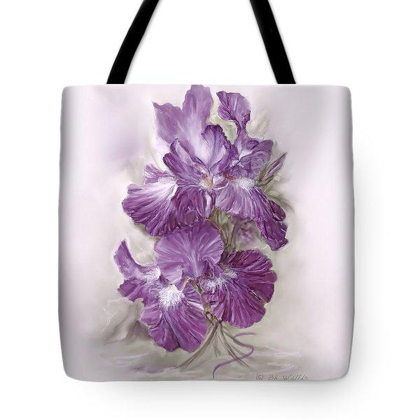 Purple Iris Tote Bag by Bonnie Willis