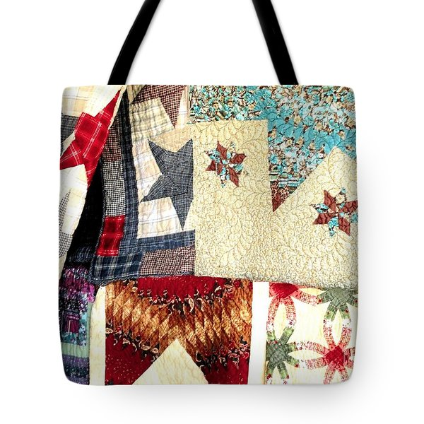 Tote Bag featuring the photograph Quilts For Sale by Janette Boyd