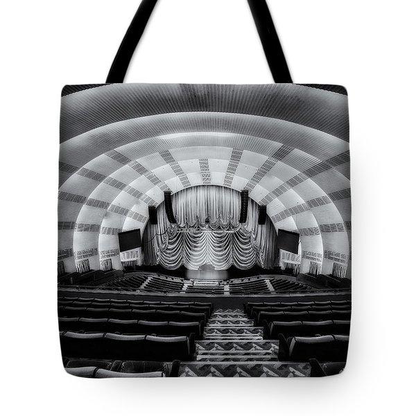 Radio City Music Hall Theatre Tote Bag by Susan Candelario