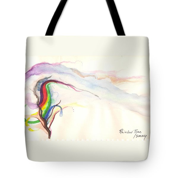 Tote Bag featuring the painting Rainbow Tree by Rod Ismay