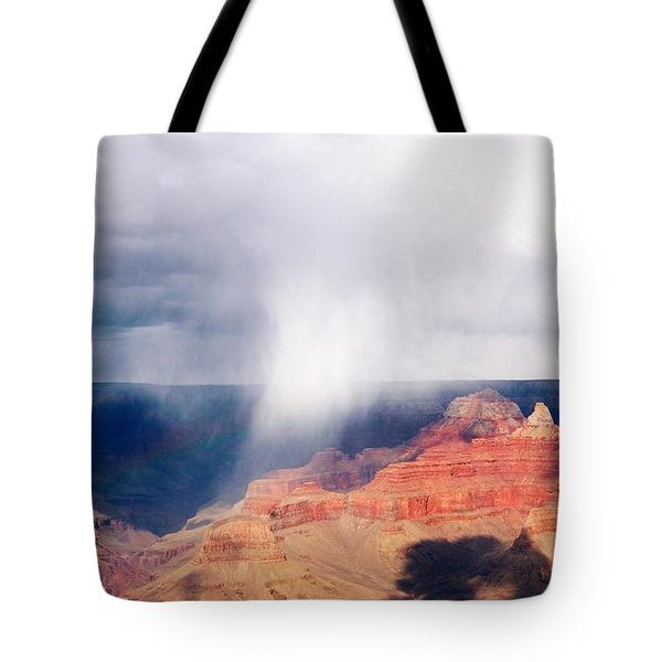 Raining In The Canyon Tote Bag by Kathleen Struckle