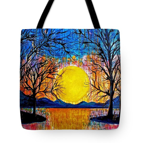 Raining Sunset Tote Bag