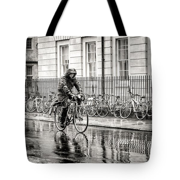 Rainy Day Ride Tote Bag by William Beuther
