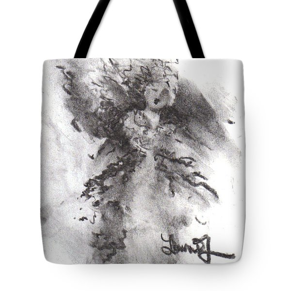 Tote Bag featuring the drawing Rapture Of Peace by Laurie Lundquist