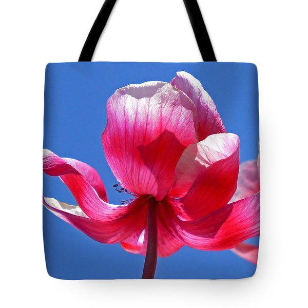 Red White And Blue Tote Bag by Rona Black