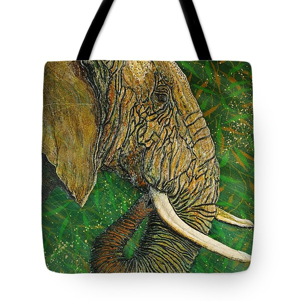 Tote Bag featuring the painting Respect by Debbie Chamberlin
