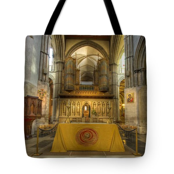 Rochester Castle Kent England Hdr  Tote Bag by David French