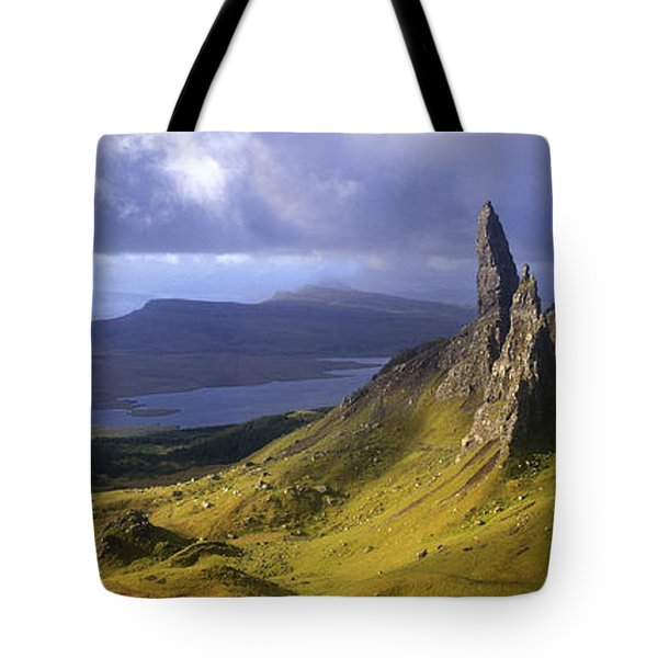 Rock Formations On Hill, Old Man Tote Bag by Panoramic Images