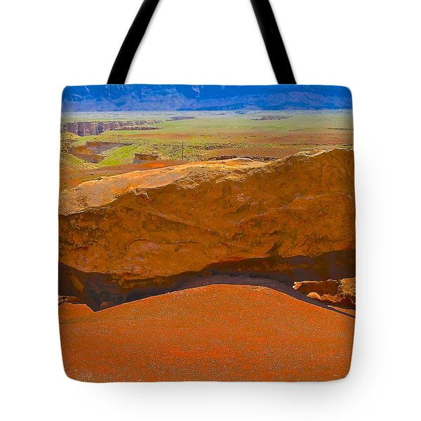 Rock Orange Tote Bag