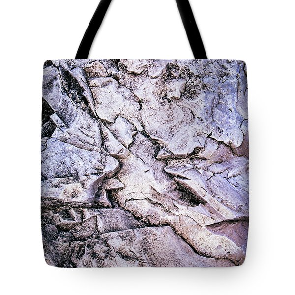 Rocks At Georgian Bay Tote Bag by Elena Elisseeva