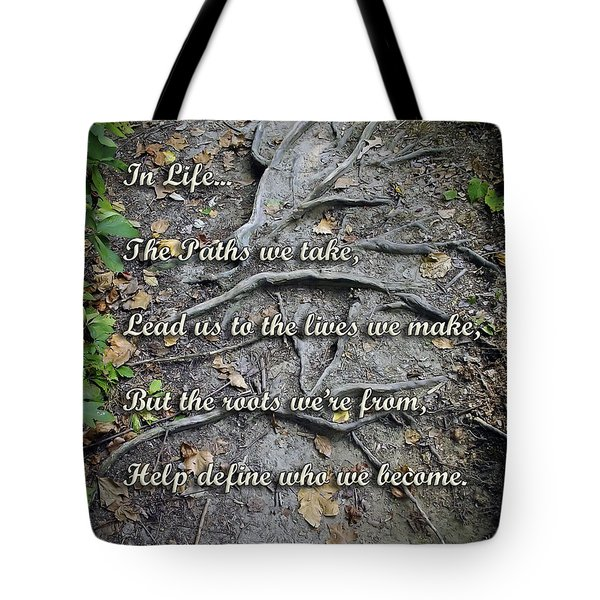 Roots Tote Bag by Brian Wallace