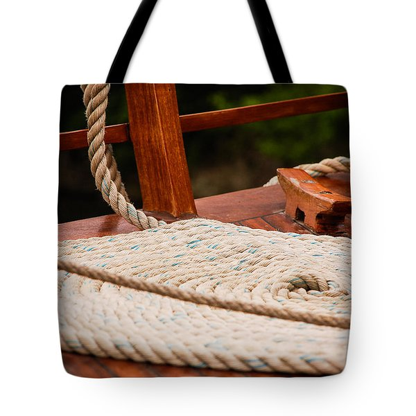 Tote Bag featuring the photograph Rope Circle by Dany Lison