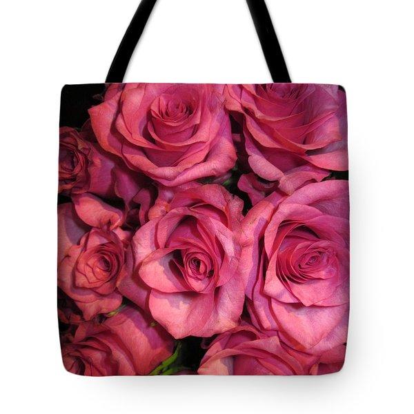 Rosebouquet In Pink Tote Bag