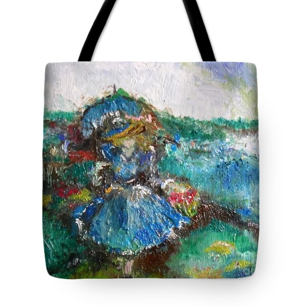 Tote Bag featuring the painting Roses For My Mother by Laurie L