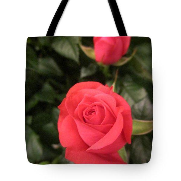 Roses In Red Tote Bag