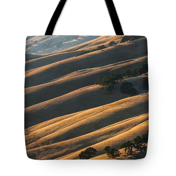 Round Valley Ridges Tote Bag by Marc Crumpler