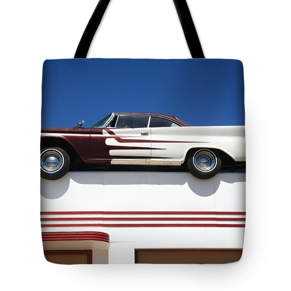 Route 66 - Desoto's Salon Tote Bag by Frank Romeo