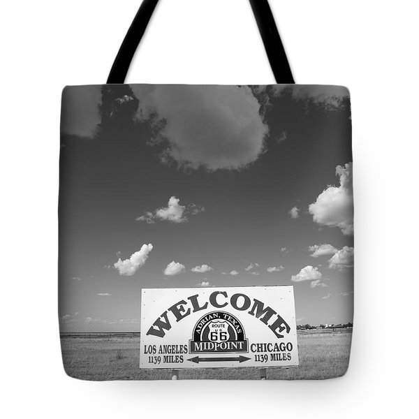 Route 66 - Midpoint Sign Tote Bag
