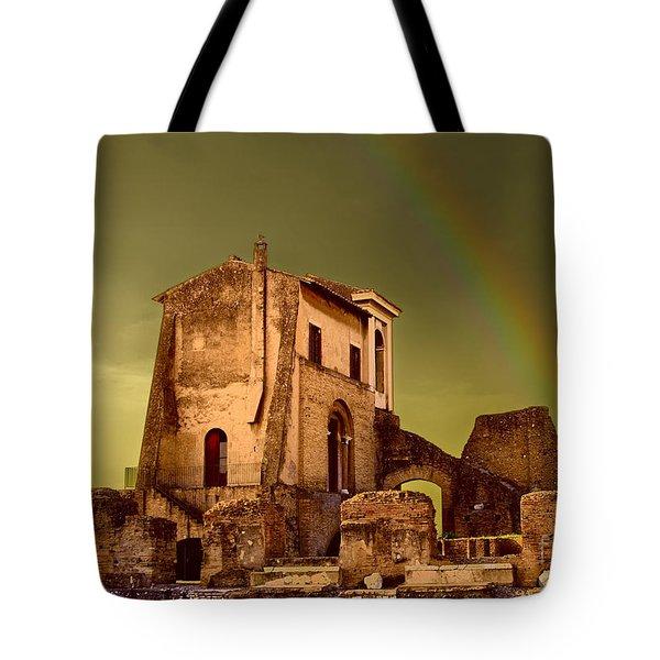 Ruin At Palatine Hill Tote Bag