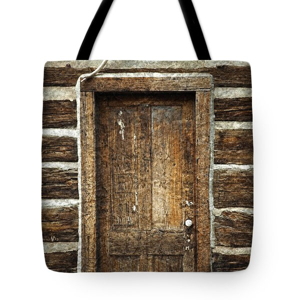 Rustic Cabin Door Tote Bag by John Stephens