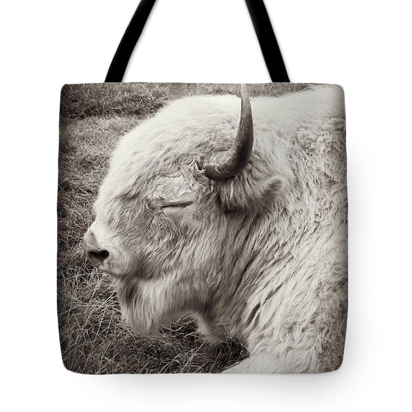 Sacred Buffalo Tote Bag by Chris Scroggins