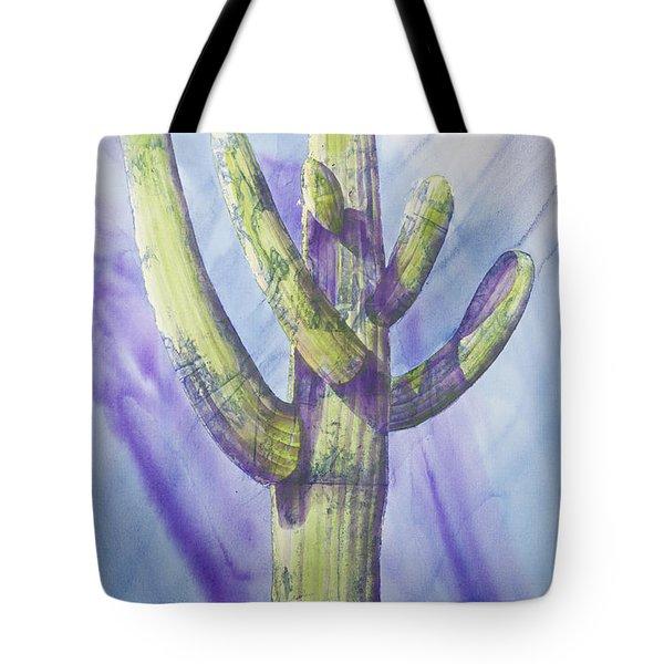 Saguaro In Winter Tote Bag