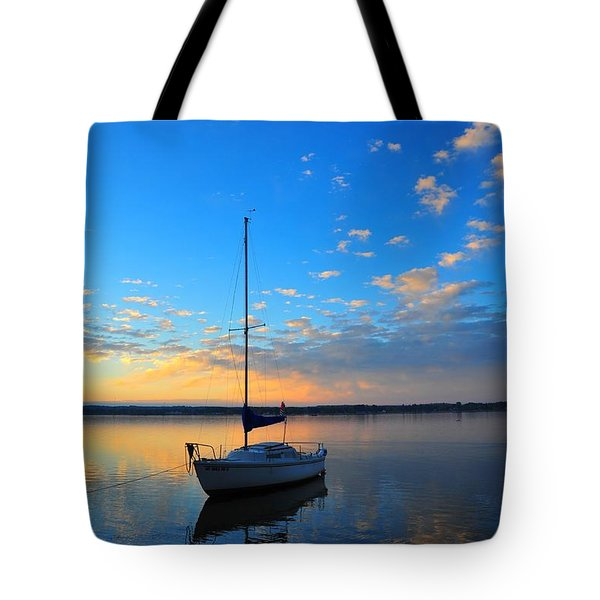 Tote Bag featuring the photograph Sailing 2 by Terri Gostola