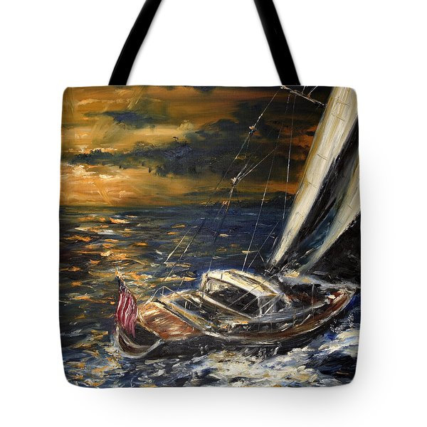 Sailing Tote Bag by Arturas Slapsys