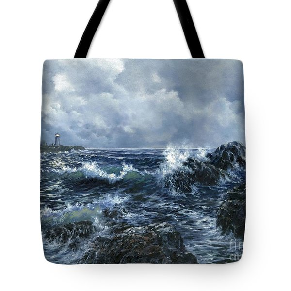 Tote Bag featuring the painting Sailor's Light by Lynne Wright