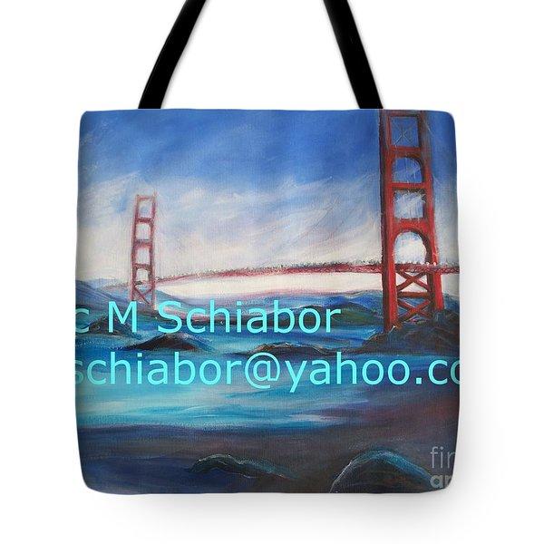 San Francisco Golden Gate Bridge  Tote Bag by Eric  Schiabor