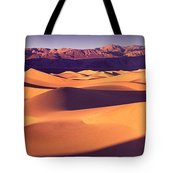 Sand Dunes In A Desert, Death Valley Tote Bag