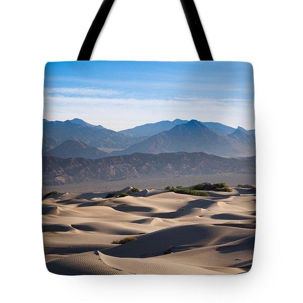 Sand Dunes In A Desert, Mesquite Flat Tote Bag