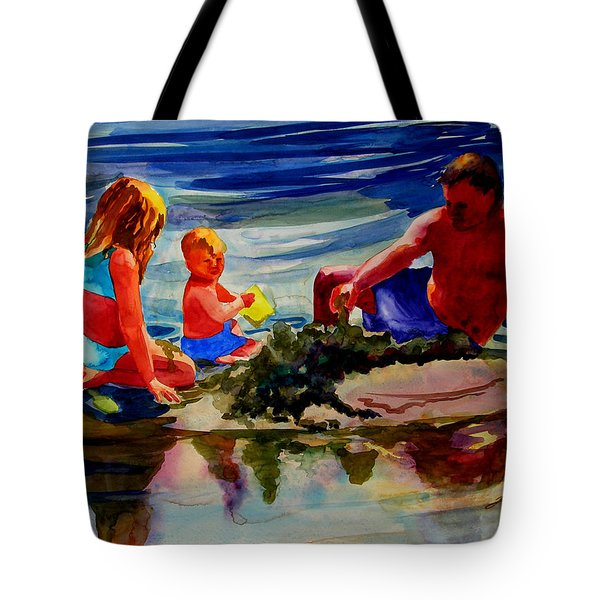 Sandcastles With Daddy Tote Bag by Julianne Felton
