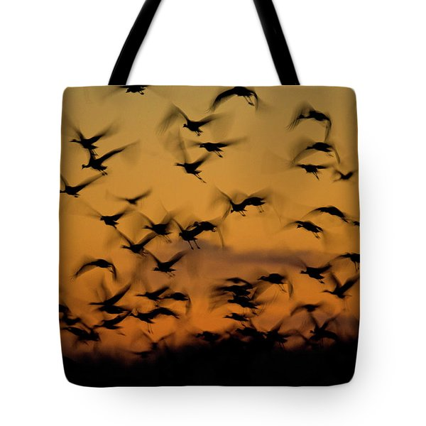 Sandhill Migration Tote Bag