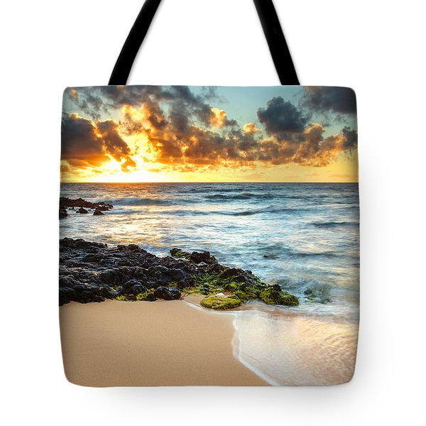 Sandy Beach Sunrise 7 Tote Bag by Leigh Anne Meeks