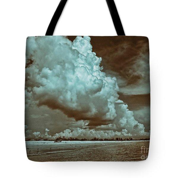 Sanibel In Sepia Tote Bag by Jeff Breiman
