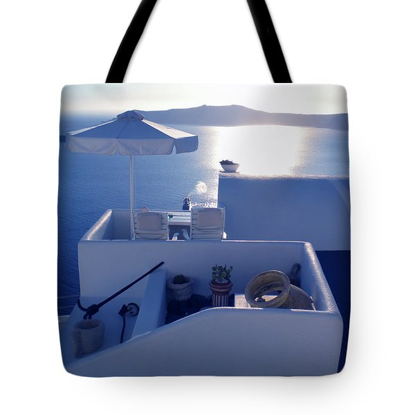 Tote Bag featuring the photograph Santorini Island Greece by Colette V Hera  Guggenheim