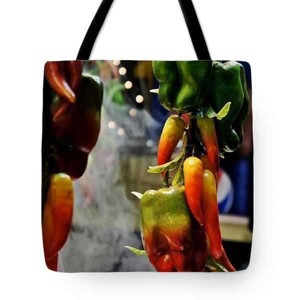 Tote Bag featuring the photograph Sausage And Peppers by Lilliana Mendez