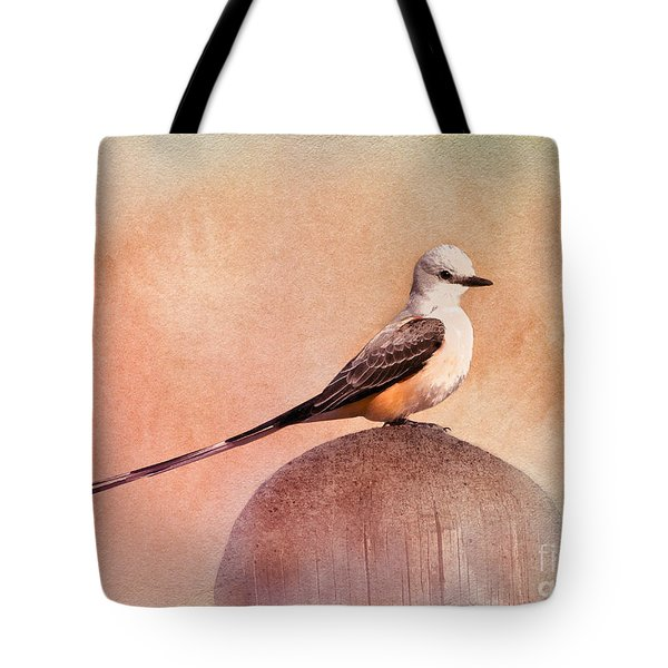 Scissor-tailed Flycatcher Tote Bag by Betty LaRue